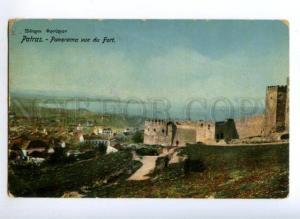 172118 GREECE PATRAS fort view Vintage postcard