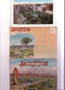 Souvenir Folder 16 Scenes Along Santa Fe Trail, California, Arizona, Colorado