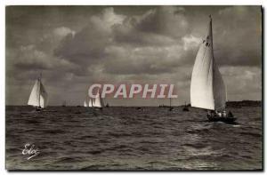 Postcard Modern Sailboat Boat Basin & # 39Arcachon Regates the basin