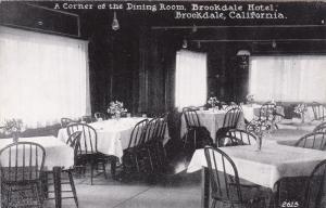 BROOKDALE , California , 1920-30s; Dining Room,Brookdale Hotel