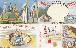 Shell Garage Votes For Women Suffragettes 4x Advertising Postcard s