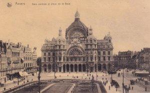 ANVERS, Antwerp, Belgium, PU-1991; Gare Centrale Et Place De la Gare
