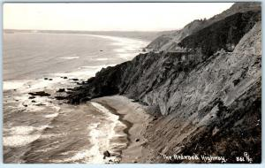THE REDWOOD HIGHWAY, California  CA   Pacific Ocean Patterson Photo Postcard
