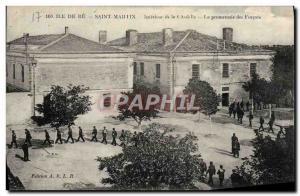 Postcard Old Steam Bagnard Ile de Re Saint Martin Inside the citadel Parkway ...