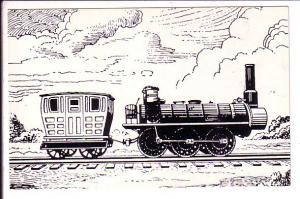 The Samson, Sketch of Train, Stellarton to Coal Pier, East River Nova Scotia,