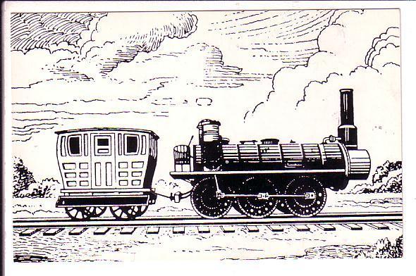 The Samson, Sketch of Train, Stellarton to Coal Pier, East River Nova Scotia,