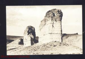 RPPC GREEN RIVER WYOMING KETTLE & SUGAR BOWL ROCK VINTAGE REAL PHOTO POSTCARD