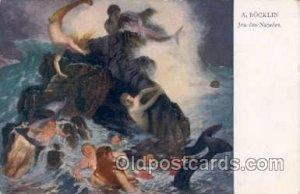 Artist Bocklin, Mermaid, Mermaids Artist Bocklin Unused