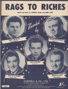 Rags To Riches David Whitfield 1950s Sheet Music