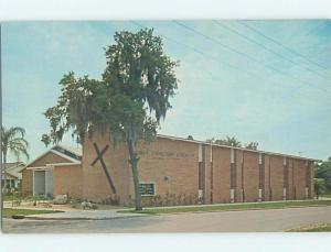 Unused Pre-1980 CHURCH SCENE Sebring Florida FL p3287