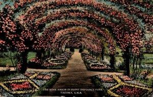 Washington Tacoma Point Defiance Park The Rose Arbor 1916