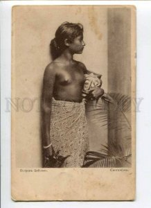 289380 CEYLON Semi-nude SINGHALESE girl Vintage St. Eugenie Red Cross postcard