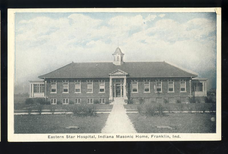 Franklin, Indiana/IN Postcard, Eastern Star Hospital, Indiana Masonic Home
