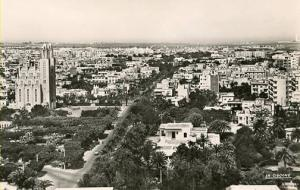 Morrocco - Casablanca. Panoramic View of the New City - RPPC