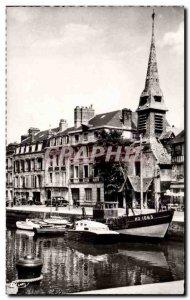 Honfleur - Le Vieux Bassin and Museum - Modern Postcard