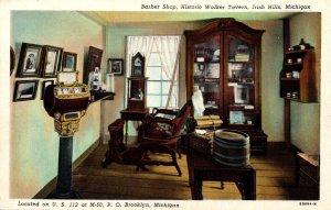 Michigan Irish Hills Historic Walker Tavern Barber Shop Curteich