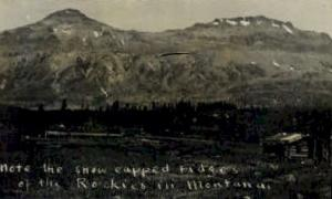 Real Photo- Rocky Mountains Misc MT Unused