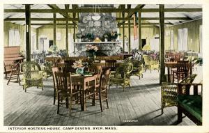 U.S. Military. Camp Devens, Ayer, MA. Hostess House Interior