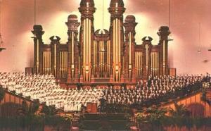 Choir and Organ of the Mormon Tabernacle, Salt Lake, Utah...