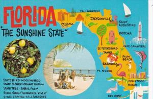 Florida Map Of The Sunshine State