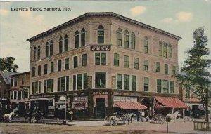 Maine Sanford Leavitts Block Drug Store &  Billiard Parlor 1914