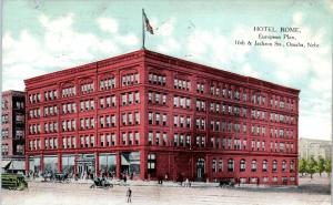 OMAHA, NE  Nebraska    HOTEL  ROME   Street Scene   1908   Postcard