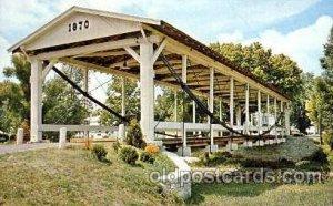 Germantown, Ohio, USA Covered Bridge Unused