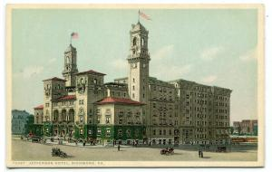 Jefferson Hotel Richmond Virginia 1910c Phostint postcard