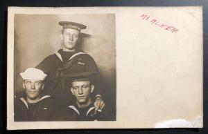 Mint USA Real Photo Postcard RPPC Early US Navy Marines Sailors McAleer