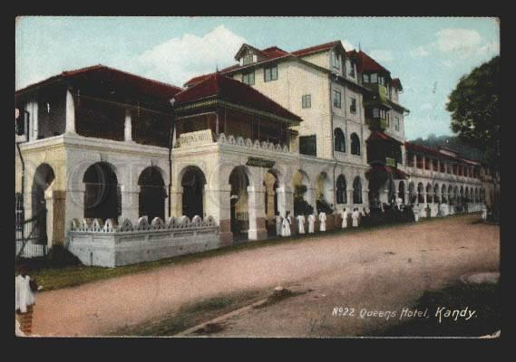 116924 Colombo KANDY Queens HOTEL Sri Lanka Vintage postcard