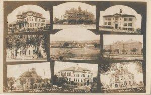 RP: MISSOULA , Montana, 1910 ; 9 view w/ college