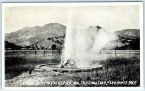CALISTOGA, California CA  Geyser Erupting GEYSER INN  Napa County 1910s Postcard