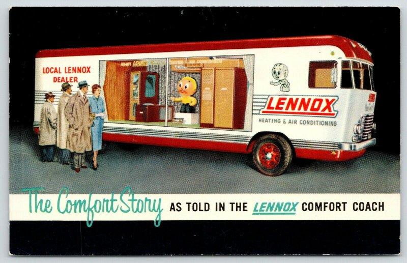 New Hampton Iowa~John Knight Plumbing Heating~Lennox Comfort Coach~1956 RV Adv