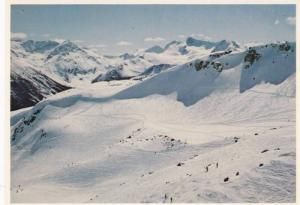 Rugged Spearhead Range looms majestically over Harmony Bowl, Whistler Mountai...