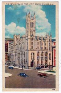 Mizpah Hotel & 1st Baptist Church, Syracuse NY
