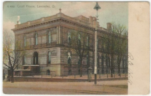 Lancaster Ohio Court House 1907 Vintage Undivided Back Postcard Historical Site