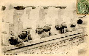 Morocco - Oudjda. Severed Human Heads After Combat Between Moroccans