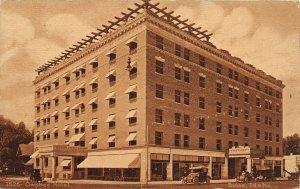 G17/ Boise Idaho Postcard 1912 Owyhee Hotel Buildoing Automobiles