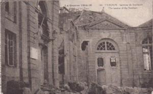 France Verdun La Guerre 1914-18 Interior Of The Seminary After The Bombardment