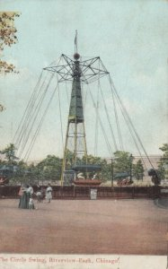 CHICAGO, Illinois, PU-1908; The Circle Swing, Riverview Park