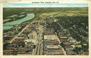 Aeroplane View Augusta Georgia Postcard Kropp 2863