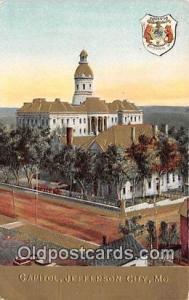 Capitol Jefferson City, MO, USA Postcard Post Card Jefferson City, MO, USA Ca...