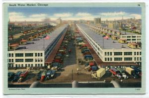 South Water Street Market Chicago Illinois 1940s postcard