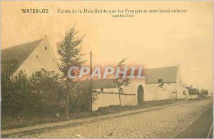 Postcard Old Farm Wateloo Haie Sainte than the French have let off four times