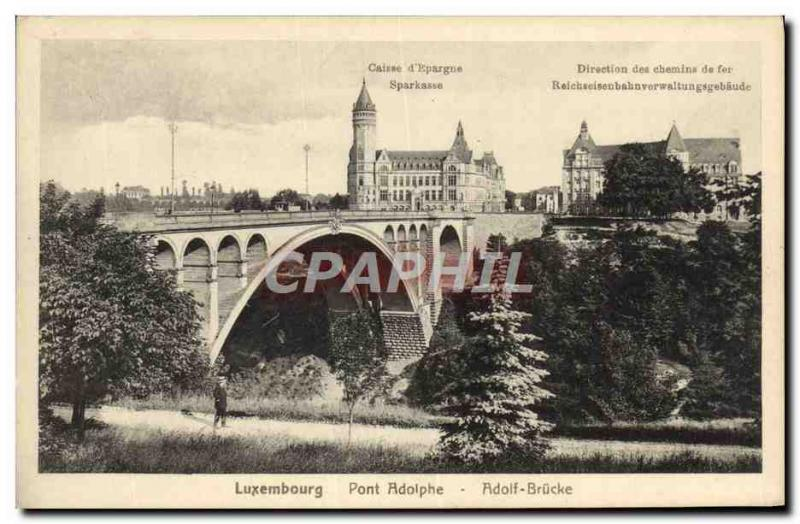 CPA Luxembourg Pont Adolphe Adolf Brucke