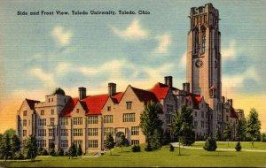 Ohio Toledo Side and Front View Toledo Univerity 1940