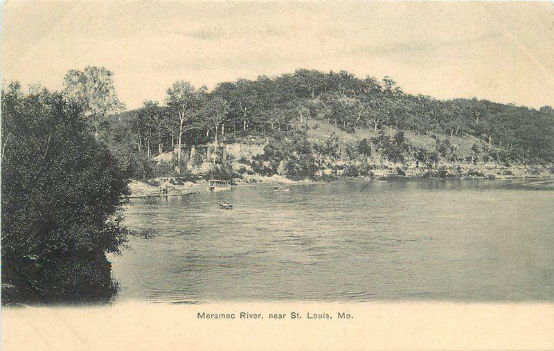 1906 Meramec River St Louis Missouri Postcard undivided waterfront 13369