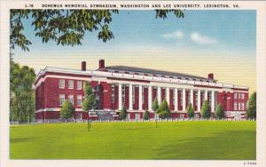 Doremus Memorial Gymnasium Washington And Lee University Lexington Virginia