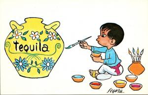 Mexico Young Boy Painting Pottery Tequila The Magic Word