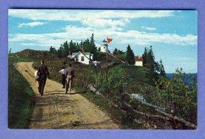 Beautiful Owls Head, Maine/ME Postcard, Lighthouse/Light